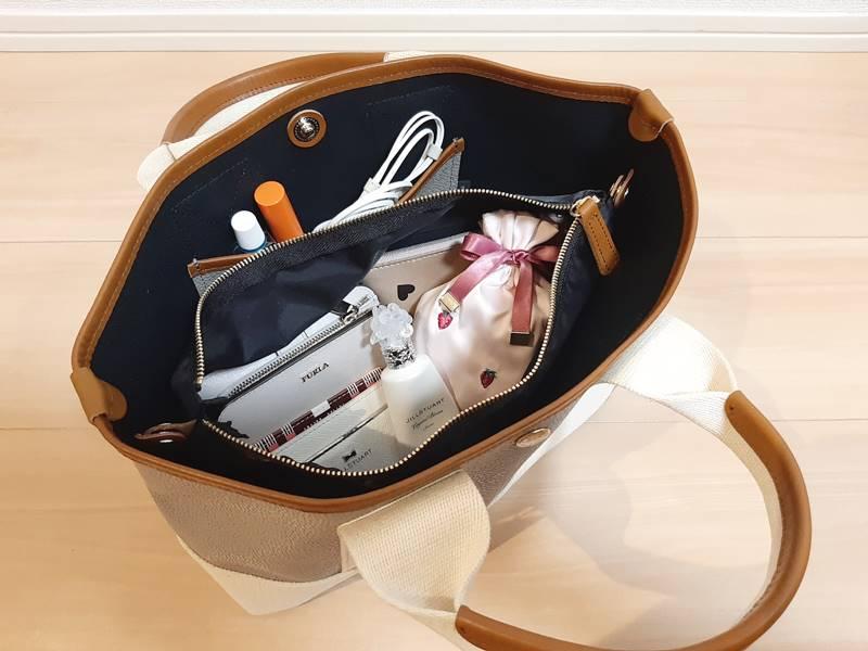 トプカピのミニトートバッグ収納力